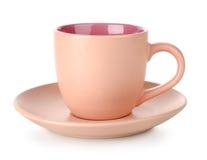 Pink cup and saucer Stock Photos