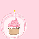 Pink cupcake Royalty Free Stock Photography