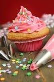 Pink cupcake Stock Photography