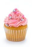 Pink cupcake royalty free stock photos