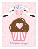Pink Cupcake Bakery Sign Design Stock Image