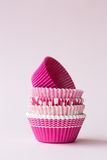 Pink cupcake cases Royalty Free Stock Photo