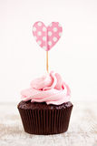 Pink cupcake Royalty Free Stock Photography