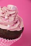 Pink cupcake detail Stock Image