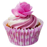 Pink Cupcake isolated Royalty Free Stock Photo