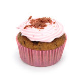 Pink cupcake isolated on white background Royalty Free Stock Photography