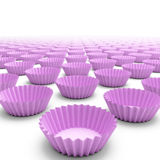 Pink cupcake shells Royalty Free Stock Photo