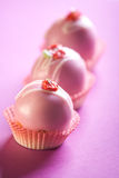 Pink cupcakes Royalty Free Stock Image