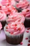 Pink Cupcakes Close Up Stock Image