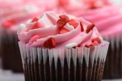 Pink Cupcakes Close Up Royalty Free Stock Photos