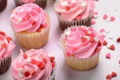 Pink Cupcakes Close Up Royalty Free Stock Image