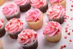 Pink Cupcakes Close Up Stock Images