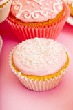 Pink cupcakes Stock Images