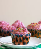 Pink cupcakes Stock Image