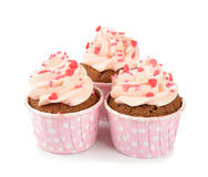 Pink cupcakes Royalty Free Stock Images
