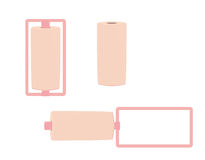 Pink curlers. Pink hair curlers on a white background vector illustration