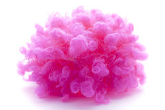 Pink curly wig Stock Photos