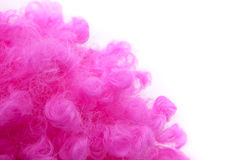 Pink curly wig Stock Photo