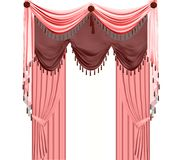 Pink curtain. Stock Photo