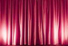 Pink curtain stock photography