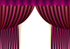 Pink curtain. Illustration on white background Stock Photography