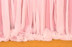 Pink Curtain and carpet Royalty Free Stock Images