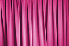 Pink curtain of cinema stage background Stock Photo