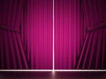 Pink curtain cloth Stock Photography