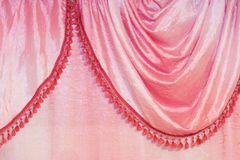 Pink curtain detail Stock Image