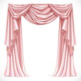 Pink curtain draped with pelmet Royalty Free Stock Image