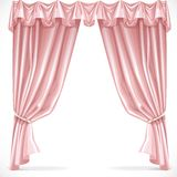 Pink curtain draped with pelmet 1 Stock Images