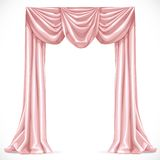 Pink curtain 1 Stock Image