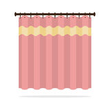 Pink Curtain On White Background Stock Photo