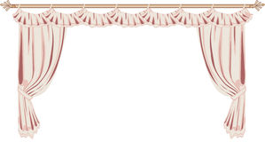 Pink Curtains Royalty Free Stock Photography