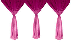 Pink Curtains Royalty Free Stock Images