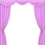 Pink curtains background Stock Photo