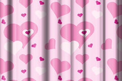 Pink curtains Stock Photography