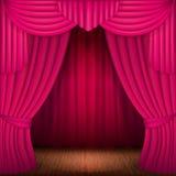 Pink curtains Stock Photos