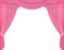 Pink Curtains. On a white background Royalty Free Stock Images