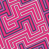 Pink curve seamless pattern. (eps 10 Stock Photography