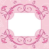 Pink cute card Royalty Free Stock Photo