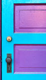 Pink & Cyan Door Stock Photography