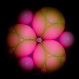Pink 3D Fractal Stock Image