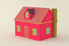 Pink 3d house Stock Image