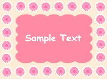 Pink daisy background vector illustration