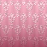 Pink damask background Royalty Free Stock Photography