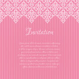 Pink damask invitation blank Stock Photos