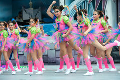 Pink dance costumes Stock Photography