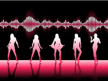 Pink Dancers Royalty Free Stock Photo
