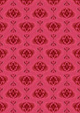 Pink dark seamless background with old classic pattern Stock Photography